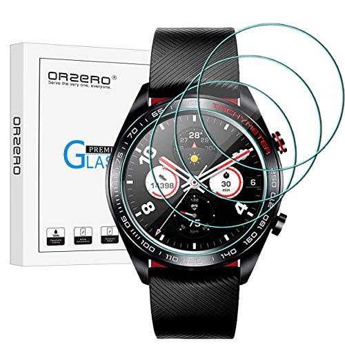 NEWZEROL [4 Pack] kompatibel für Huawei Honor Watch Magic Panzerglas Schutzfolie,9 Härte Hochauflösender gehärtetes Glas-Displayschutz Anti-Kratzer blasenfrei Schutzfolie-[Lebenslange Ersatzgarantie]