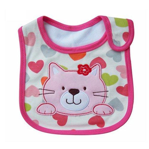 Babero (impermeable), diseño con dibujos rosa Kitty Cat Pattern