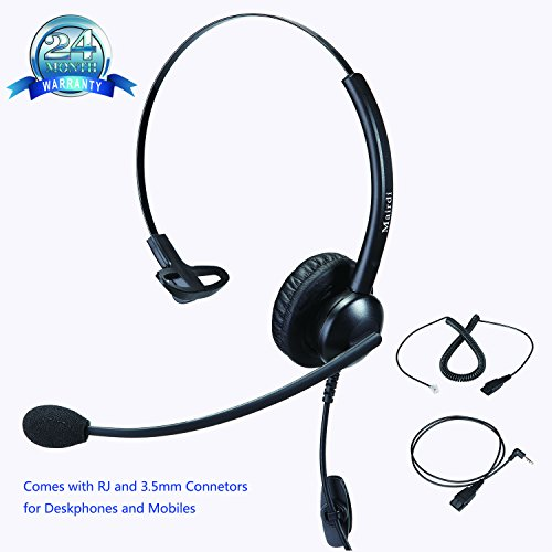 Phone headset Call Center Telefon Headset Kopfhörer mit Noise Cancelling Mikrofon mit...