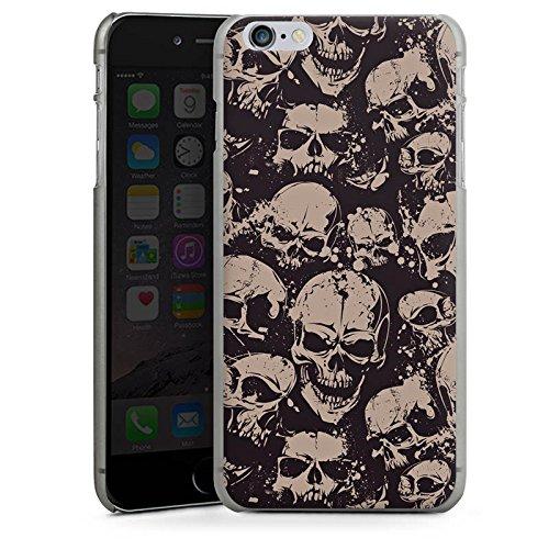 Apple iPhone X Silikon Hülle Case Schutzhülle Skull Böse Gothic Hard Case anthrazit-klar