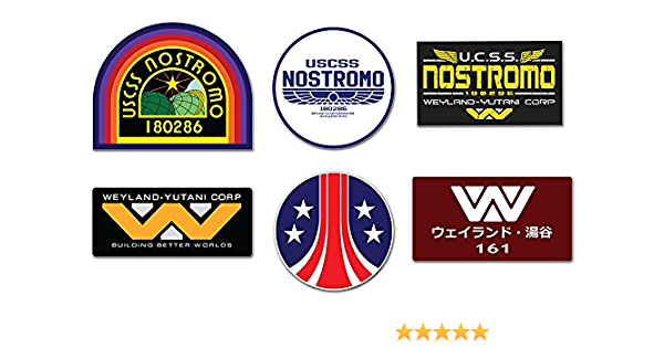 Ti El Es Nostromo Weyland Yutani Corp Sulaco Alien Aliens Aufkleber 6 Laminiert Sticker Set Auto