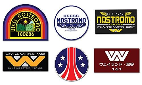 Preisvergleich Produktbild Nostromo Weyland Yutani Corp Sulaco Alien, Aliens Aufkleber , 6 Laminiert Sticker set