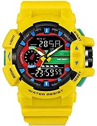 Reloj hombres Reloj Deportivo De Moda Para Hombre Reloj Digital Multifunción  Impermeable De Doble Pantalla Con Pantalla LED (Color… 5ade8a7258cc