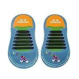 No Tie Lazy Shoelaces Cordones de silicona elásticos para niños Athletic adecuado para zapatillas de deporte Running Rubber Style Shoelaces Wwin