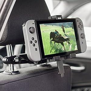Olixar Nintendo Switch Halterung Auto/KFZ Halterung/Tablet Halterung Moint – 360 Grad Rotation – Hüllenfreundlich
