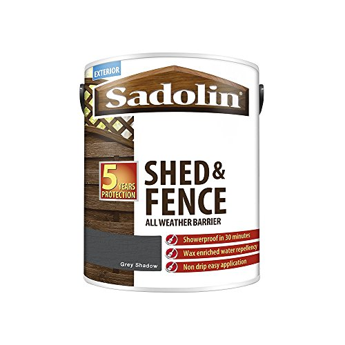Sadolin Shed & Fence Woodstain Grey Shadow 5 L