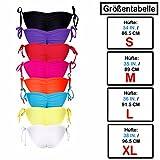 - 51IMOJ2Sx5L - Damen Unifarben Brazilian Style V-Cheeky Bikinihose