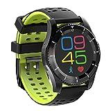 LongYu smart watch wristband Handy Herzfrequenz Blutdruck Schrittzahl Bluetooth erinnern Historischen Track Druck Multi-Funktions-Uhr wasserdicht GS8 (Color : A)