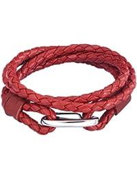 Rafaela Donata Damen-Armband Edelstahl Leder 60907019