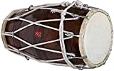 SG Musical special wax polish dholak (dholki) sheesham wood bolt/rope tuned