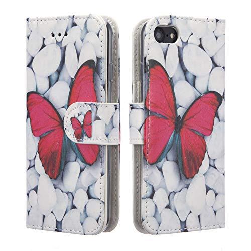 NWNK13Magnetverschluss® iPhone 5C Buch mit Gel Rahmen Premium Leder Flip Case Cover Plus Displayschutzfolie und Reinigungstuch
