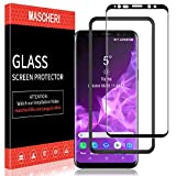 MASCHERI Schutzfolie für Samsung Galaxy S9 Panzerglas Panzerglasfolie, [3D Abgerundete] [Vollständige Abdeckung] [Ausrichtungsrahmen Einfache Installation]...