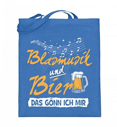 Hochwertiger Jutebeutel (mit langen Henkeln) - Blasmusik Shirt · Musikinstrumente · Musikverein-Bekleidung · Geschenkidee für Musiker · Motiv/Spruch (Hoodie Musikinstrumenten Mit)