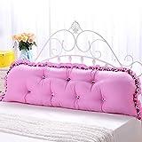 ANDEa Baumwolle Fancy Bedside Big Kissen Bett Sofa Oversized Paar Lendenwirbelsäule Doppelkissen...