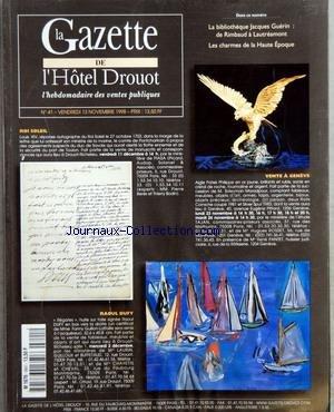 gazette-de-lhotel-drouot-la-no-41-du-13-11-1998-la-bibliotheque-jacques-guerin-de-rimbaud-a-lautream