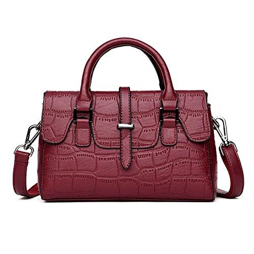 TSLX Die neue Mode Handtaschen All-Match Single Schultertasche gules