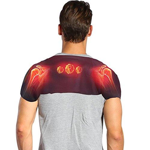 Filfeel Schulterstütze, Schmerzlinderung Magnetfeldtherapie Protezione spalle Spontane Erwärmung Massage Turmalin Schulter Heizband