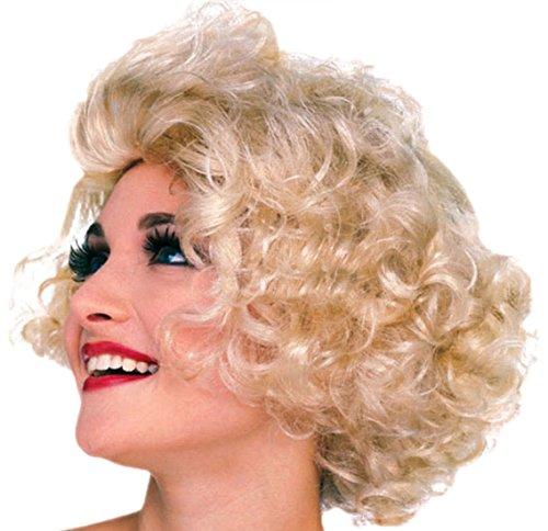 erdbeerclown - Damen Perücke 50er Jahre Hollywood Star, Elfenbein (Toter Hollywood Star Kostüme)