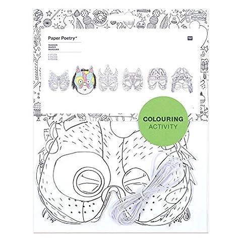 Assortiment de 6 masques de déguisement pour enfants à colorier Colouring activity