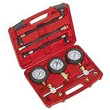 Sealey MS100 moto compressione e pressione carburante Gauge, confezione da 3 pezzi