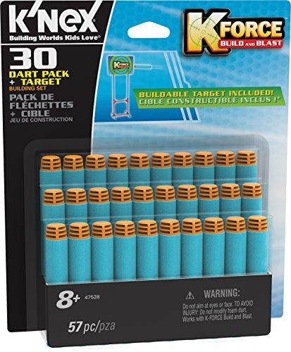 K'NEX 33877 - K-Force - 30 Dart Pack Und Target Building Set - 57 Pieces - 8+ - Bau- und Konstruktionsspielzeug