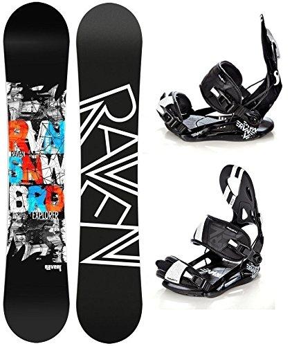 Snowboard Set: Snowboard Raven Explorer Gullwing + Bindung Raven s250 Black XL