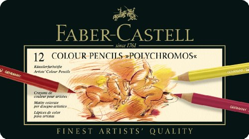 faber-castell-110012-crayon-polychromos-boite-metal-de-12-pieces