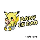 Out24 Sticker Pokemon Baby in Car 19 x 10 cm