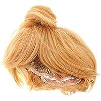 baoblaze hada Tinker Bell Rubio Peluca de Cosplay Party Fancy vestido Moño peluca corta rubia