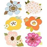 Reizende Blumen-Gruß-Karten eingestellt mit Umschlägen 6PCS