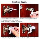 HONGCI-8-PCS-Sensore-di-movimento-luce-universale-a-LED-per-cerniera-per-armadietto-per-cucina-moderna-ecc-Bianco-caldo
