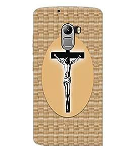 PrintDhaba Cross D-4857 Back Case Cover for LENOVO K4 NOTE A7010 (Multi-Coloured)