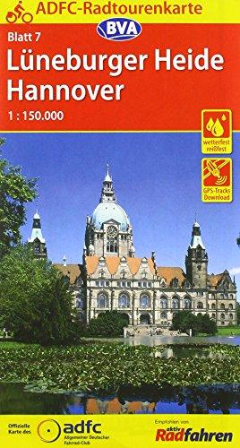 Top trend ADFC-Radtourenkarte Lüneburger Heide /Hannover :150.000, reiß- und wetterfest, GPS-Tracks Download Online-Begleitheft (ADFC-Radtourenkarte :150000, Band