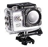Caméra de Sport 4K 12MP Ultra Full HD Caméra sous-Marine Étanche 30M avec Pile Grand Angle 90 °, Écran 2.0' Haute Définition, 900mAh avec Boîtier Étanche et Kit D'accessoires (Noir 2)