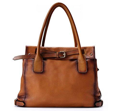 La Poet Damen Leder Desigual Tasche Handtaschen Leder Tote Bag (Braun)