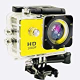 Rewy pRO_01 HD 12MP Waterproof Sports Action Camera with 170˚ Ultra Wide-Angle Lens & SD Card/HDMI Slot Compatible with All Mobile Phones & Windows Device - Assorted Colour