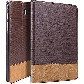 "Qinda Luxury Leather Smart Flip Case For Samsung Galaxy Tab A 8.0 8"" T350, T355, T351 (Sleep/Wake) (Dark Brown)"
