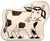 Hofmeister Holzwaren Kinder-Schneidbrett mit Tiermotiv Kuh