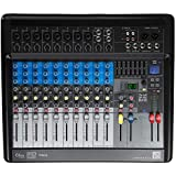 British Acoustics LiveMix 10.2FX - 10 Channel Compact Analogue Mixer with Bluetooth, USB & Effects