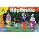 Party Kindergeburtstags-Komplettset II (limitiert) bestehend aus 3 beliebten Spielen | Sackhüpfen, Eierlauf - und Ringwurfspiel