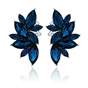 YouBella Jewellery Crystal Leaf Earrings for Girls and Women