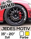WUNSCHMOTIV Tire Bomb tirebomb tyre stencils Reifen Aufkleber Sticker Farbe WEIS ODER GELB (18 Zoll, gelb)