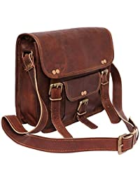 Mercado Cuir Unisex Vintage Leather Sling Messenger Bag