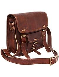 Mercado Cuir Unisex Vintage Leather Sling Messenger Bag