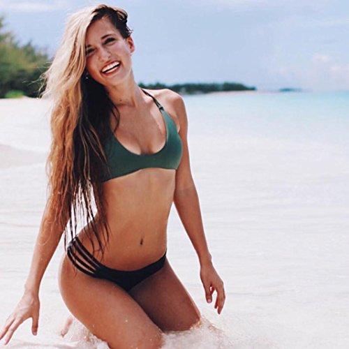Amlaiworld Bikini Bottom pantaloni nuoto donna moda 2017 Nero