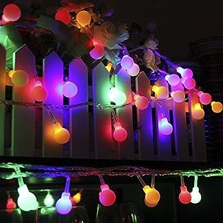 Cadena de Luces – Guirnalda Luces 10M 100 LED Cuerda Luces Bombillas Multicolor Decoración Interior, Jardines, Casas, Boda, Fiesta de Navidad (Multicolor)