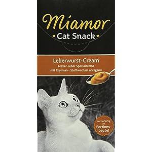 Miamor Katzensnack Leberwurst Cream 6 x 15 g, 11er Pack (11 x 90 g)