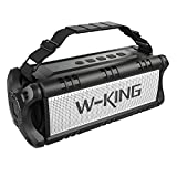 W-KING 40W Bluetooth Speaker, Portable Wireless Stereo Speakers with Subwoofer Enhanced Bass, 24