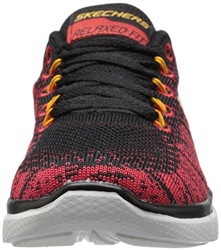 Skechers (SKEES) Equalizer 2.0-Perfect Game, Scarpe Da Ginnastica Basse Bambina Nero (Black/Red)