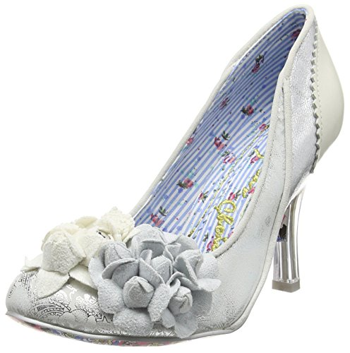 Irregular Choice - Mrs Lower, Scarpe col tacco Donna Argento (Argento (Silver))